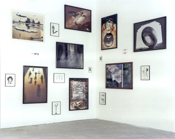 Gallery Hooghuis, Arnhem, 1990. Photoworks 80 x 110 cm. Little works 30 x 40 cm and 10 x 15 cm.Photoworks 80 x 110 cm. Little works 30 x 40 cm and 10 x 15 cm. Photoworks 80 x 110 cm. Little works 30 x 40 cm and 10 x 15 cm.